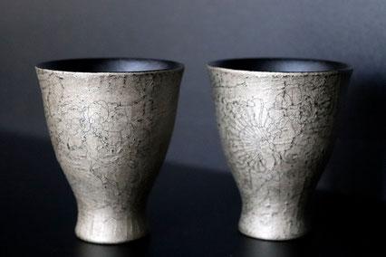 "Sake cup ""evening garden"" by Sayo kuroki"