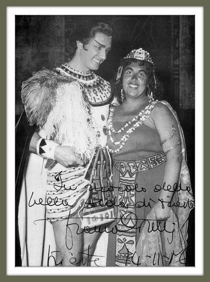 Radames - AIDA - di Giuseppe Verdi - con Anna Maria Rovere (Aida) - (Trieste 1956)