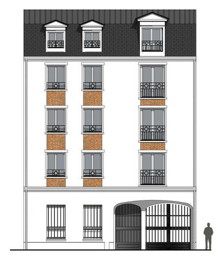 immeuble collectif en elevation pcmi 5 maisons-alfort