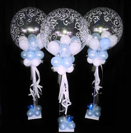 Ballon Luftballon Bubble Ständer Deko Dekoration Versand Geburt Taufe Babyshower Kommunion Firmung Konfirmation Jugendweihe Mädchen rosa Junge blau Event Party Feier Feierlichkeit Überraschung