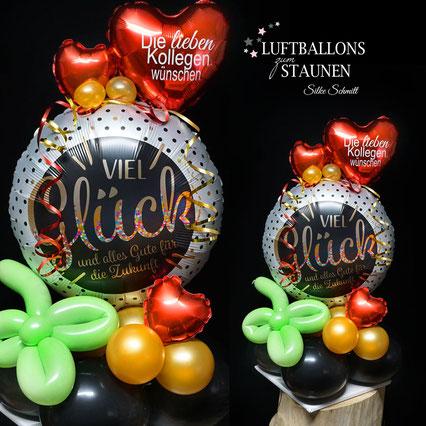 Ballon Luftballon Folienballon Viel Glück und alles Gute Zukunft Geschenk Ruhestand Pension Pensionierung Rente Party Deko Tischdeko Mitbringsel Versand Heliumballons Überraschung Abschied Kollege Kollegin Chef Mitarbeiter lieben Kollegen wünschen  Geld