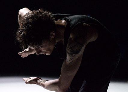 Pierrot Lunaire (Rehearsal), Choreography M. Goecke, Dancer Konstantin Lorenz, Photographer Paulio Sovari