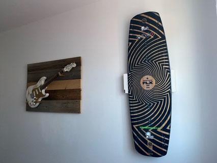 Wandhalterung Wandmontage Wakeboard horizontal vertikal Halterung wall mount good