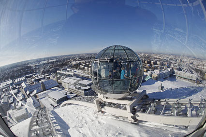 SkyView tour at Ericsson Globe - Copyright Soren Andersson, Visit Stockholm