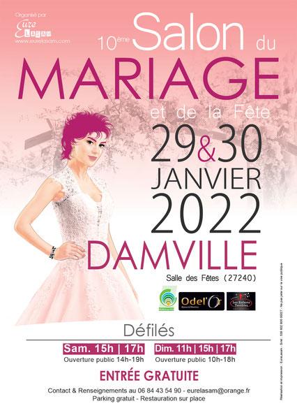 Salon du Mariage et de la Fête à Damville 29 et 30 Janvier 2022