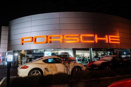 Weihnachtsfeier beim Porsche Autohaus in Stuttgart