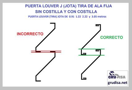 """PUERTA LOUVER (TIRA) J """"JOTA"""" INSTALACIÓN CORRECTA"""