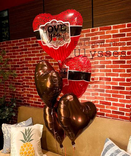つくば市のバルーンショップユリシス バルーンアート バルーンギフト 風船 バレンタイン ラブ ハートバルーン
