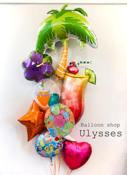つくば市のバルーンショップユリシス バルーンアート バルーンギフト 開店祝い 周年祝い 夏 海 スタンド花 バルーンスタンド