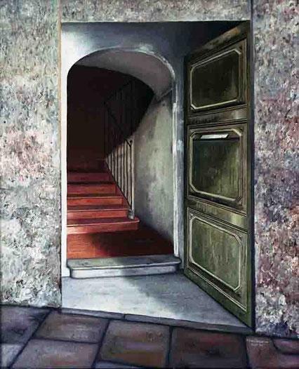 Portal 1995, óleo sobre lienzo 73X60 cm