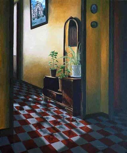 Pub Siglo XIX 2000, óleo sobre lienzo 60X50 cm