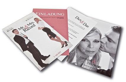 Foto, Design e Impresso para Convite de casamento
