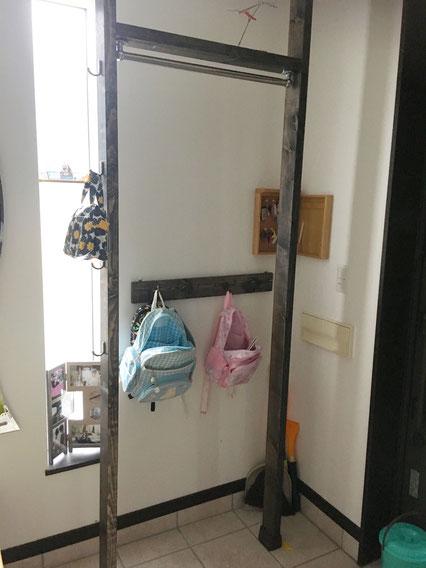 ディアウォール 玄関 コート掛け 整理収納アドバイザー DIY