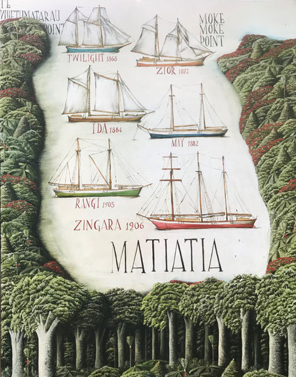 'Matiatia bay' 80 x 100 cm, oil on canvas, 2020