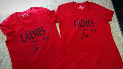 Textildruck T- Shirts bedruckt.