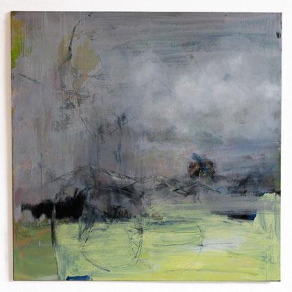 Cornelia Weihe, Weites Land II, Malerei, 140 x 140 cm