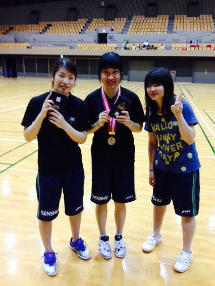 3位鈴木、準優勝 刘、ランクイン庄司