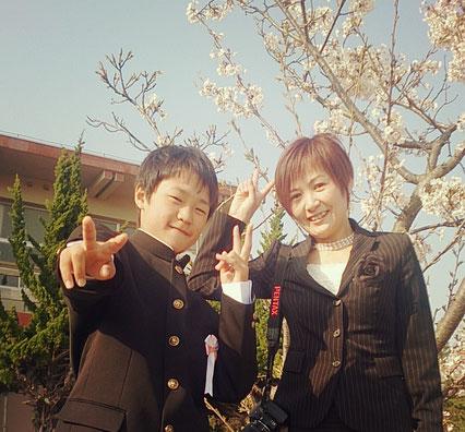 入学式記念撮影