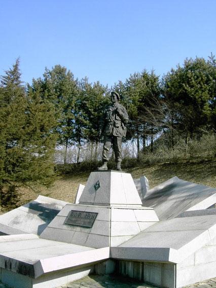 Statue du Médecin Commandant Jules Jean-Louis à Hongcheon en Corée