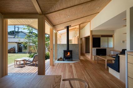吉武聖建築設計事務所:兄の家(平屋建て二世帯住宅) 画像