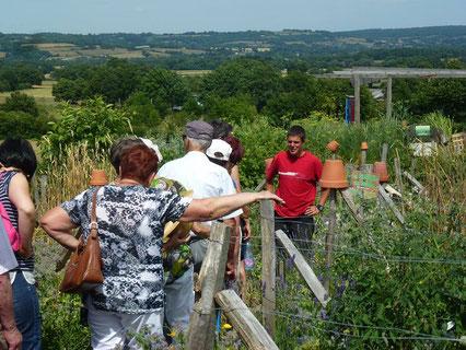 visite guide du jardin permaculture en mandala avec adrien laporte - Jardin Permaculture