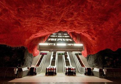 дизайн стокгольмского метро