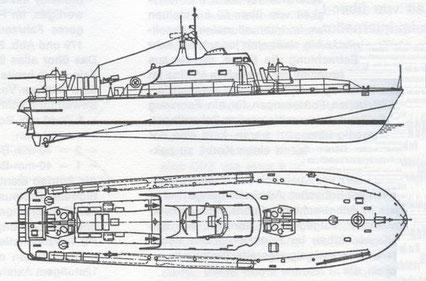 """S-Boot Klasse 153 """"Pfeil"""" (engl. """"Ferocity""""-Klasse)"""