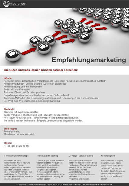 Competence Seminarbeispiele - Competence GmbH & Co. KG