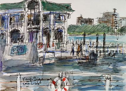 横浜市・みなとみらいのぷかり桟橋