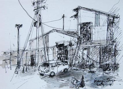 神奈川県藤沢市・江ノ島裏通りの倉庫