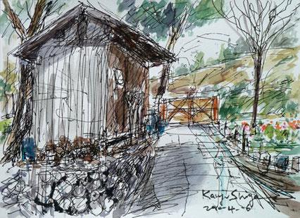 横浜市・天王森泉公園の納屋