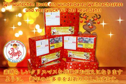 Japan-Hilfsprojekt »Von Herz zu Herz«, Weihnachtspakete, Karate Erlach