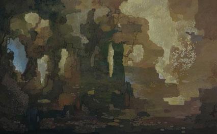 """Martin Guido Becker """"O.T.""""  2014, Öl/Lwd, 100/160 cm"""