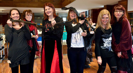 Nancy Schumann and Sharon Spendley, winners of the Gothic Costume Contest Dublin 2016