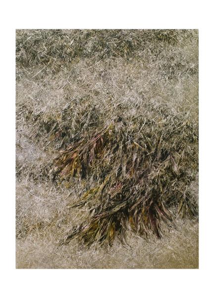 Broken Flowers I 2015 Kunstharz, Steinmehl, Acrylfarbe, Ölfarbe auf Leinwand  210 x 160 cm