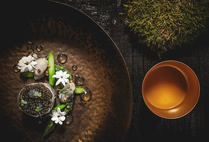 Cicada, la Table du Hameau,  the newly awarded one star restaurant by Michelin guide