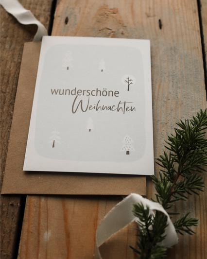 Weihnachtspostkarte wunderschöne Weihnachten