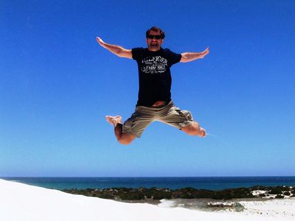 Vincent Willkomm, freaky finance, Lancelin, Dunes, Meer, Dünen, Sand, fliegen, blauer Himmel