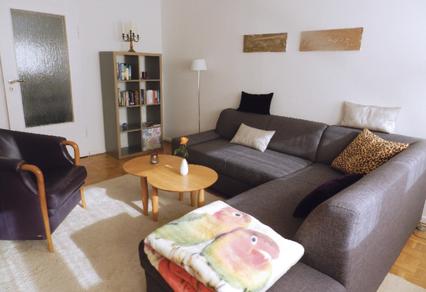 Wohnzimmer: Sessel und Couch