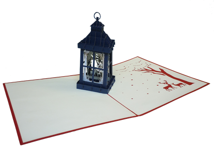 Carte de voeux Lanterne de Noël