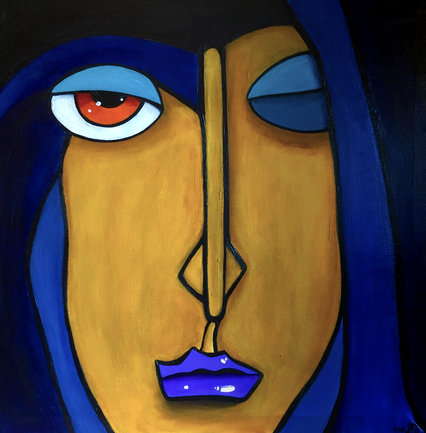 THE BLUE ONE 50 x 50 Acryl