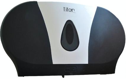 8012LB Dispensador de papel higiénico TWIN Luxury Black. Medidas:  508 X 125 X  292 mm