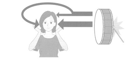左右の耳に届く音の大きさの違い