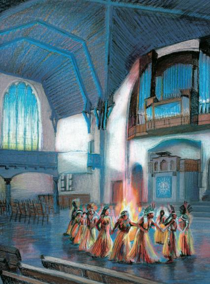 Illustraties bij artikel over je kerk als stam voor programmablad Visie 2021