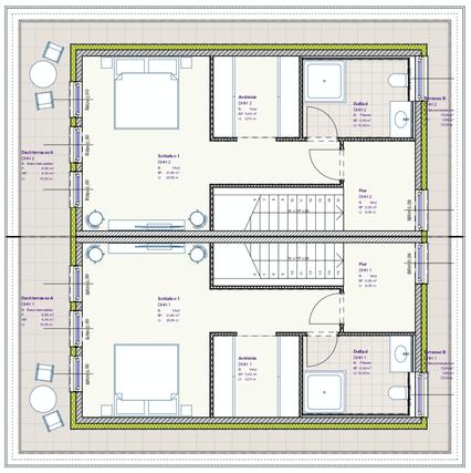 Grundriss Staffelgeschoss DHH Buchenallee 3 und 3a