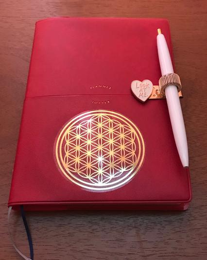 新しい手帳 エナジーシール(フラワーオブライフ)でカスタマイズ