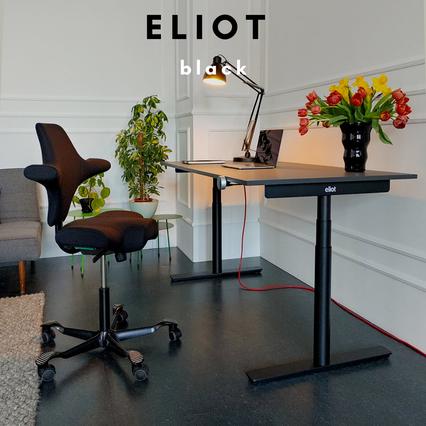 Höhenverstellbarer ELIOT BLACK Schreibtisch