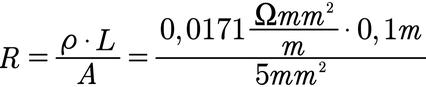 Beispiel für die Berechnung des elektrischen Widerstands eines Kabels