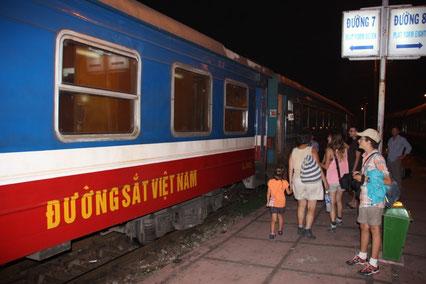 En route pour une nuit dans le train !!