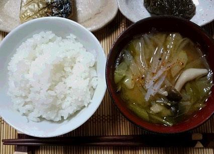 寒天入り『ご飯』と『お味噌汁』